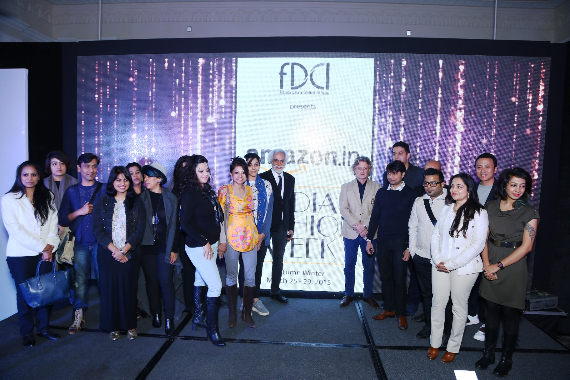 Sunil Sethi, President, FDCI with Vikas Purohit, Head, Fashion, Amazon India and Designers